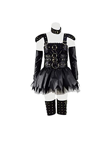 Womens Edward Outfits Gothic Dress Film Scissorhands Cosplay Halloween Costume (Black, M)