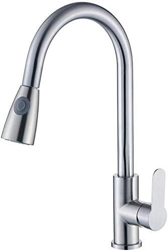 Wasserhähne Edelstahl Küchenspüle Zughahn Einlocher Warm- und Kaltwasser Edelstahlspüle Wasser Mischventil Wasserhahn