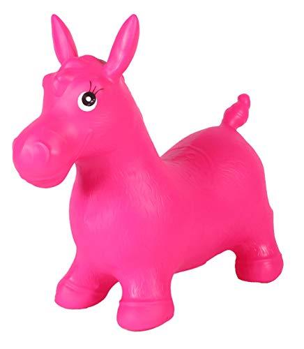 SHINE Inflatable Horse Bouncy Kids Animal Hopper REITEN AUF Play Soft Toy MIT ODER OHNE Musik (ohne Musik, Rosa)