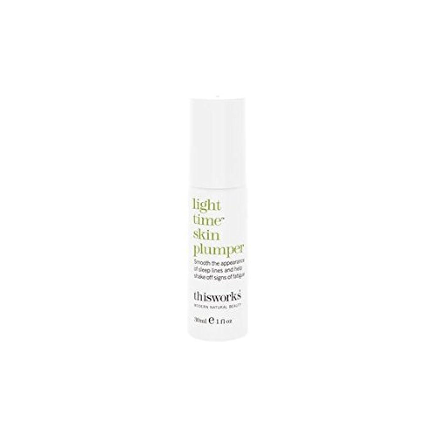 イチゴスーツケース鳴り響くThis Works Light Time Skin Plumper 30ml (Pack of 6) - これは、光時間皮膚プランパー30ミリリットルの作品 x6 [並行輸入品]