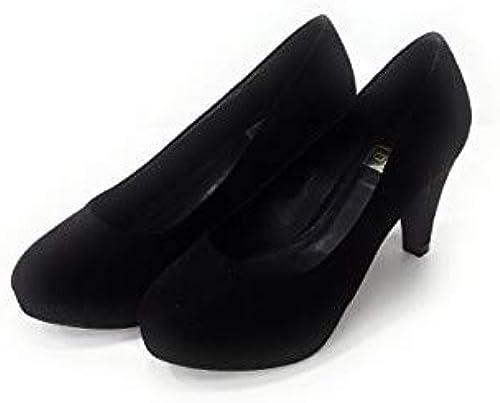 Q6 - schuhe de Vestir de Ante para damen schwarz schwarz