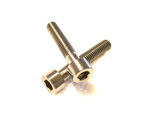 CarbonEnmy 2 StückeTitanschraube M6 x 30 zylindrisch DIN 912 Grade 5 Titanium Screw