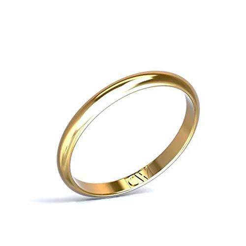 Cristina Wish Alianza de Boda Oro Amarillo 18 Quilates Rhea para Mujer y Hombre 2,5-1,3 mm, Alianzas Pareja Disponible en Todos los tamaños. Fabricado en España… (13)