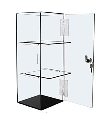 T'z Tagz Brand Acrylic Lucite Showcase Jewelry Pastry Bakery Counter Display W/Door… (Fixed Removable)