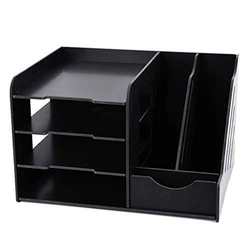 Z-SEAT Noir Multi-Fonctionnel PVC Organisateur De Bureau DIY Porte-Stylo Boîte De Bureau Papeterie Facile Assemblée Home Office Fourniture Rack De Stockage