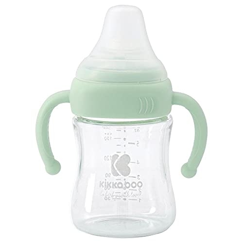Kikka Boo Biberon de vidrio 180 ml Mint - Biberones