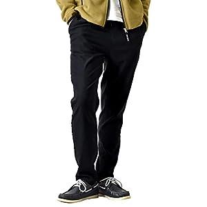 (アローナ)ARONA 防寒 スーパーストレッチパンツ 暖か 裏起毛 チノパン メンズ パンツ 冬 イージーパンツ ゴルフ ゴルフウェア ゴルフパンツ/YC 10分丈Aブラック LL