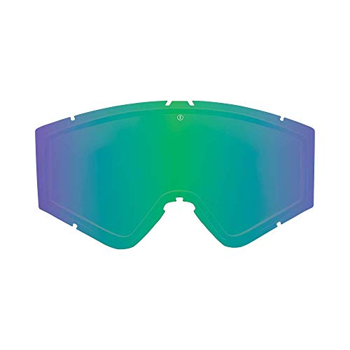 Electric California – zelfklevende rand lens – skibril & snowboard – unisex – geborsteld/groen chroom