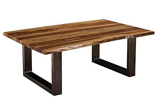 Table Basse 120x80cm – Bois Massif de Palissandre laqué (Noble Unique) - Freeform #0318