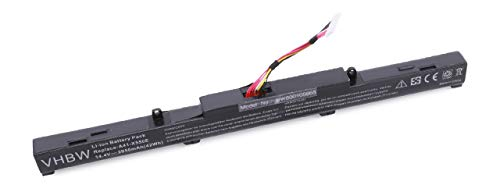 vhbw Akku für Asus R409J, VM590Z, X450J, X450JF, X751, ZX53V, F751NA, F751S F751SA K751L K751LB Laptop Notebook wie A41-X550E (Li-Ion, 2950mAh, 14.8V)