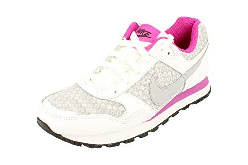 Nike MD Runner (GS), Zapatillas Mujer, Blanco Gris Fucsia, 37.5 EU