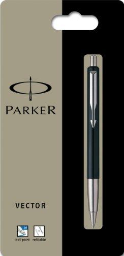 Parker Vector Kugelschreiber (Linienstärke M, Schreibfarbe blau) schwarz