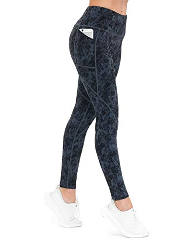ALONG FIT Printed Long Yoga Pants for Women with Pockets, Stretchy Workout Leggings with Drawstring, Soft Athletic Tummy Control Pattern Pants