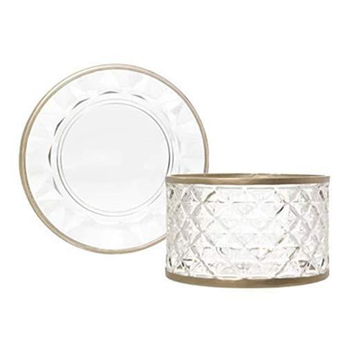 Yankee Candle Langham - Paralume e piatto in vetro trasparente, misura grande