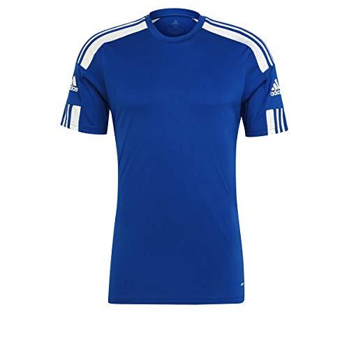 adidas Herren Shirt Squad 21 JSY Ss, Blau/Weiß, GK9154, Gr. L