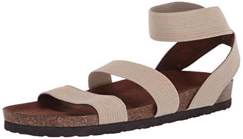 White Mountain Shoes'HARLEQUIN' Women's Sandal, NATURAL/ELASTIC/FAB, 8 M