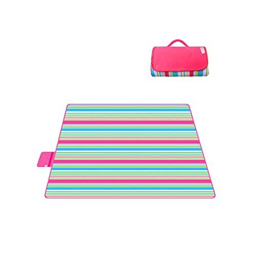 LICHUAN Manta de picnic para exteriores, impermeable, tela Oxford, manta de playa, portátil, para camping, familiares, conciertos, accesorios (color: E, tamaño: 200 x 145 cm)