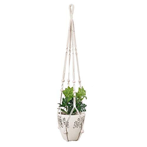 Rameng Suspension Plante, Macramé Plant Hangers Jardinière Suspendue Panier à Pot de Fleurs Décor pour Salon Salle à Manger (Beige)