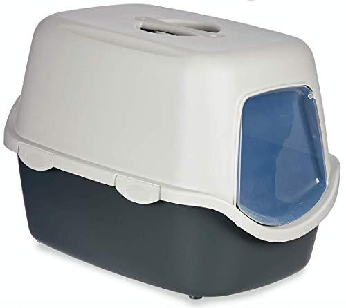 TIENDA EURASIA® Arenero para Gatos de Plástico Resistente HQ - Libre de BPA - Cubierta Desmontable y Tapa abatible - 39 x 40 x 55 cm