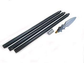 Wushu 3pzas Negro Polipropileno Largo Lanza Palo