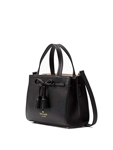 Kate Spade New York Hayes Pebble Leather Small Satchel (BLACK)