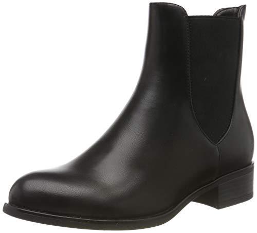 PIECES Damen PSHARPER Boot Stiefeletten, Schwarz (Black AOP: No Studs), 36 EU