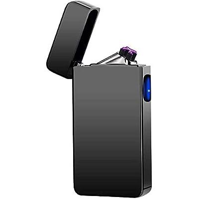 Dual Arc Plasma Lighter USB Rechargeable Windproof Flameless Butane Free Electric Lighter