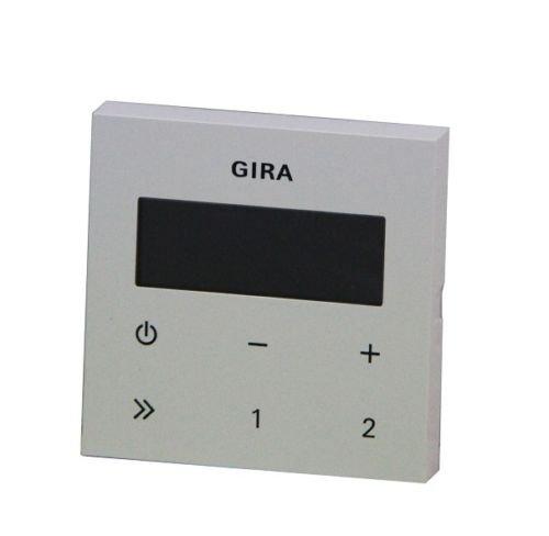 Gira 248003 Bedienaufsatz Unterputz Radio RDS System 55 , reinweiß (ohne Lautsprecher + Anschlussmaterial)