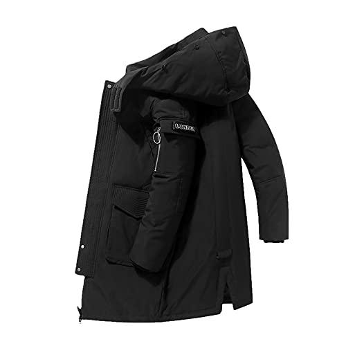Giacca invernale da uomo soprabito mimetico antivento marca lunga piumino uomo 90% piumino d anatra bianco cappotto uomo giacche calde - COME FOTO4, taglia asiatica XXXL