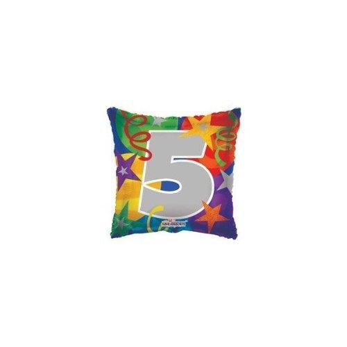 Globo de fiesta número 5 de 45,7 cm
