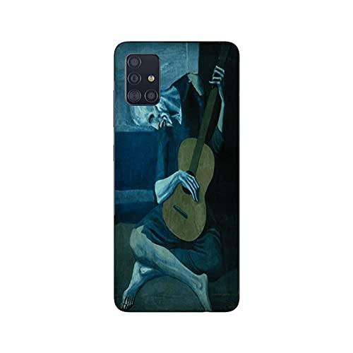 Funda Galaxy A51 Carcasa Compatible con Samsung Galaxy A51 Pablo Picasso EL Viejo Guitarrista Ciego/TPU Suave Gel de Silicona/Teléfono Hard Snap en Antideslizante Antideslizante Anti-rasguño Res