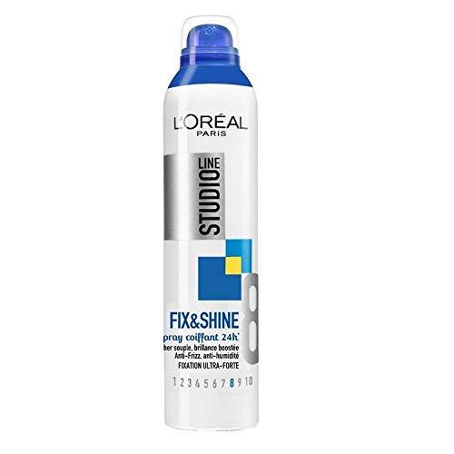 L'ORÉAL - STUDIO LINE - Spray Fix Shine Fixation Ultra Forte 300Ml - Lot De 3 - Vendu Par Lot