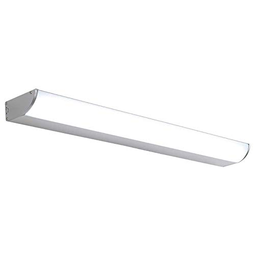 WEM Luz de tocador LED 6000K, Aluminio Impermeable Ip65 Lámpara de pared Iluminación interior de baño 16W Iluminación de gabinete de luz de tocador que cuida los ojos-Blanco 60Cm (24 pulgadas),Calent