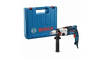 Bosch Professional GSB 21-2 RCT - Taladro percutor (1300 W, 2 velocidades, max perforación hormigón 22 mm, en maletín)