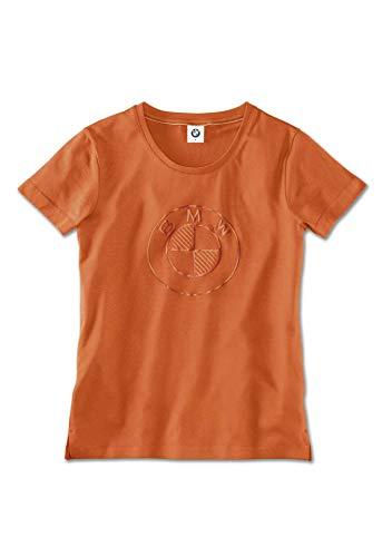 BMW Original T-Shirt Fashion Damen Logo Orange - Kollektion 2020/21 Größe M
