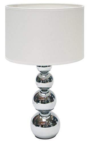 Smartwares 6000.074 lámpara de mesa con función táctil, blanco, 25 x 25 x 43 cm