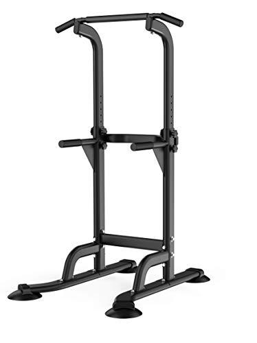 WASAI(ワサイ) 懸垂 懸垂器具 懸垂マシン ぶら下がり健康器【高さ203cm/コンパクト】筋肉トレーニング 背筋 腹筋 大胸筋 懸垂バー チンニングスタンド (MK301-黒)