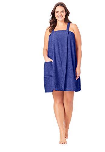 Dreams & Co. Women's Plus Size Terry Towel Wrap