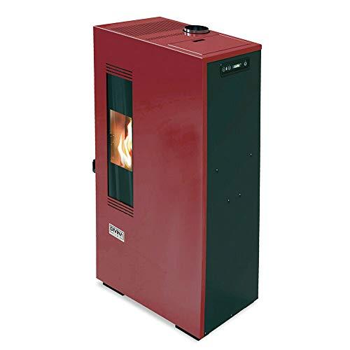 Stufa a pellet slim 5 kw ventilata riscaldamento ADELINA50 Bordeaux