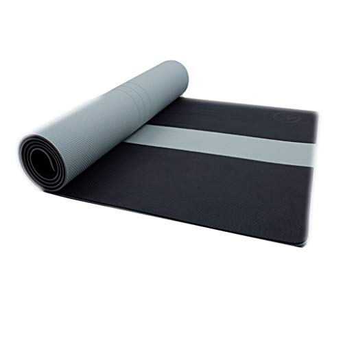 Yoga Mat Physical Fitness Tpe - Esterilla antideslizante para principiantes (color: negro, tamaño: 8 mm)