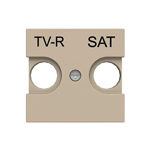 Placa de cubierta para salida de TV-R y SAT, 13,8 x 12,6 x 10,2 centímetros, color champagne (referencia: N2250.1 CV)