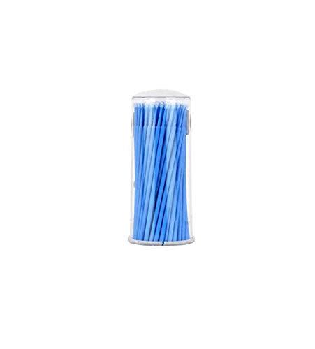 Coollooda 100 pièces coton jetable mascara écouvillon microbrosse outil de nettoyage des cils brosse d'extension de cils coton doux écouvillon applicateur L