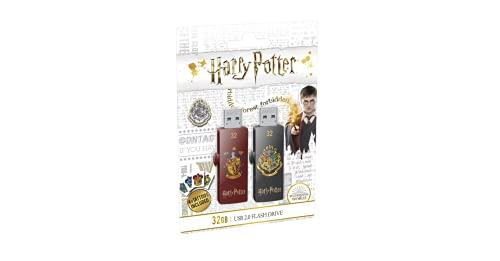 Emtec ECMMD32GM730HP01P2 - Pack de 2 Clés USB - 2.0 - Série Licence - Collection M730 - 32 Go - Harry Potter Gryffindor et Hogwarts