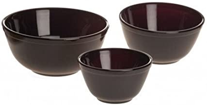 product image for Mosser Glass Nesting Mixing Bowl Set Black Raspberry