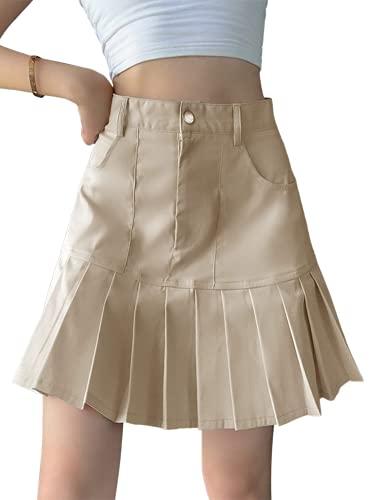 Falda plisada de verano para mujer, estilo gótico, una línea de mezclilla minifalda Y2KE-Girl Sexy Club Party Streetwear