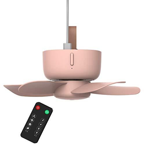 Gjyia 5V Control Remoto Temporizador USB Ventilador de Techo Refrigerador de Aire Ventilador de 4 velocidades para Cama Camping PK