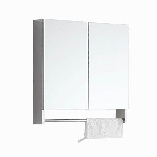 Spiegelkasten badkamer roestvrij staal opslagspiegelkast met handdoekhouder wastafel wand-opslagspiegelkast kasten