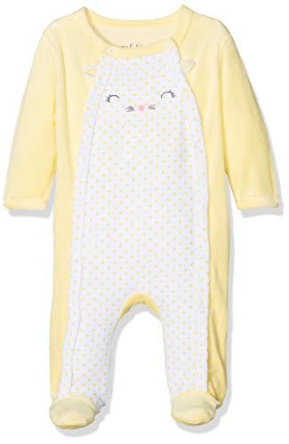 Dodo Homewear LFD.CHATON.GRV Pelele, Azul (Jaune/Blanc Cassé Jaune/Blanc Casse), 0-3 Meses (Tallas De Fabricante: 3 M) para Bebés
