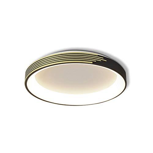 Xungzl Luz de Techo de decoración LED Moderna y Simple, Accesorios de luz de Montaje en Color Negro de Estilo nórdico, Lámparas de Techo para el hogar de Tres Colores creativos (Color : Luz Blanca)