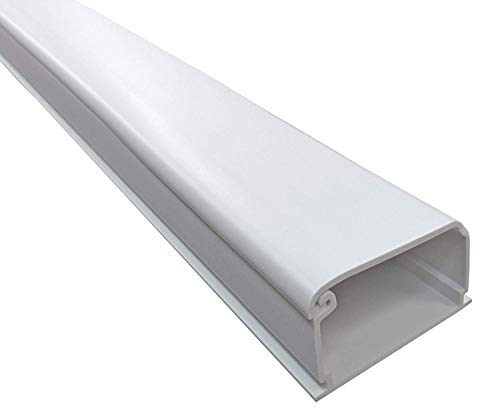"""Electriduct 2150 Series Latching Cable Raceway - 2"""" x 1.5"""" Channel Size - 2 Sticks - 5 Feet Long (10 Feet Total) - White"""